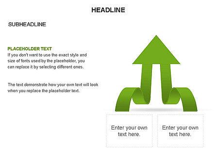 Cascade Arrows Toolbox, Slide 14, 03274, Process Diagrams — PoweredTemplate.com