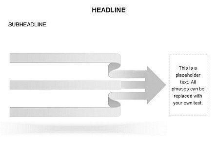 Cascade Arrows Toolbox, Slide 17, 03274, Process Diagrams — PoweredTemplate.com