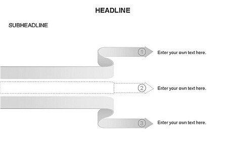 Cascade Arrows Toolbox, Slide 21, 03274, Process Diagrams — PoweredTemplate.com