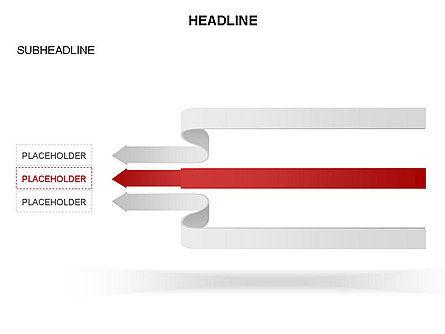 Cascade Arrows Toolbox, Slide 23, 03274, Process Diagrams — PoweredTemplate.com