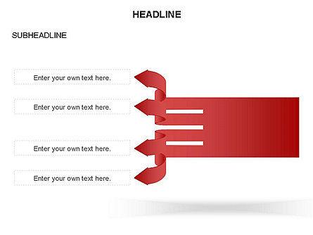 Cascade Arrows Toolbox, Slide 30, 03274, Process Diagrams — PoweredTemplate.com