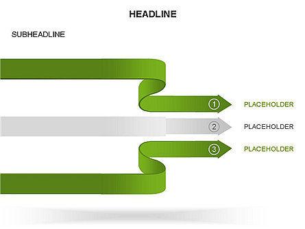 Cascade Arrows Toolbox, Slide 31, 03274, Process Diagrams — PoweredTemplate.com