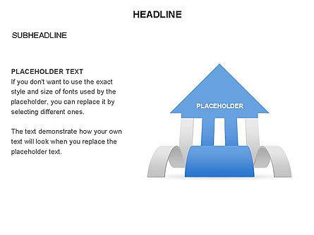 Cascade Arrows Toolbox, Slide 35, 03274, Process Diagrams — PoweredTemplate.com