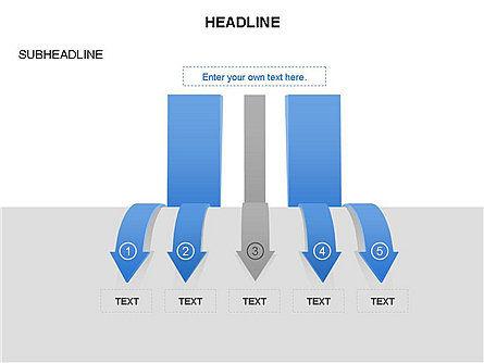 Cascade Arrows Toolbox, Slide 36, 03274, Process Diagrams — PoweredTemplate.com
