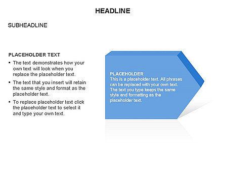 Timeline Process Arrows Toolbox, 03277, Process Diagrams — PoweredTemplate.com