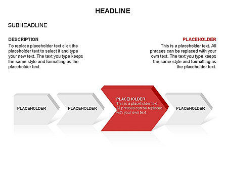 Timeline Process Arrows Toolbox, Slide 10, 03277, Process Diagrams — PoweredTemplate.com