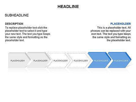 Timeline Process Arrows Toolbox, Slide 12, 03277, Process Diagrams — PoweredTemplate.com