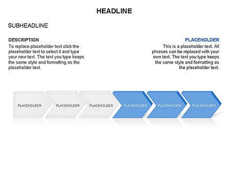 Timeline Process Arrows Toolbox, Slide 16, 03277, Process Diagrams — PoweredTemplate.com