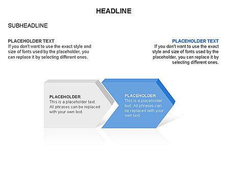 Timeline Process Arrows Toolbox, Slide 2, 03277, Process Diagrams — PoweredTemplate.com