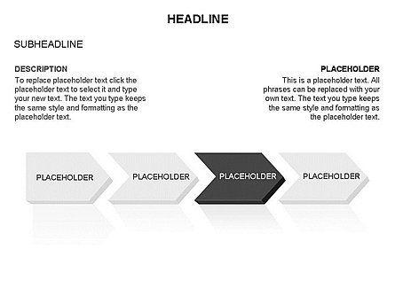Timeline Process Arrows Toolbox, Slide 20, 03277, Process Diagrams — PoweredTemplate.com
