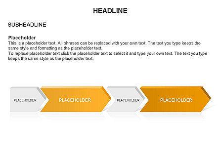 Timeline Process Arrows Toolbox, Slide 22, 03277, Process Diagrams — PoweredTemplate.com