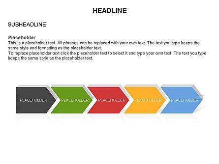 Timeline Process Arrows Toolbox, Slide 23, 03277, Process Diagrams — PoweredTemplate.com