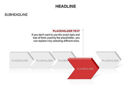 Timeline Process Arrows Toolbox, Slide 26, 03277, Process Diagrams — PoweredTemplate.com