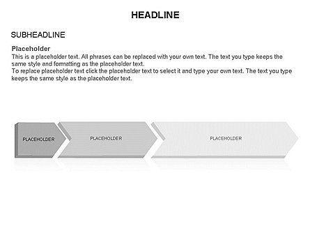 Timeline Process Arrows Toolbox, Slide 28, 03277, Process Diagrams — PoweredTemplate.com