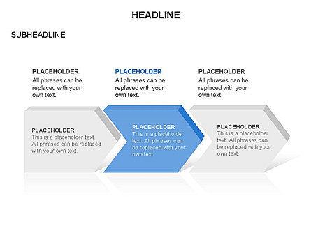 Timeline Process Arrows Toolbox, Slide 3, 03277, Process Diagrams — PoweredTemplate.com