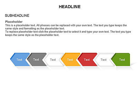 Timeline Process Arrows Toolbox, Slide 30, 03277, Process Diagrams — PoweredTemplate.com