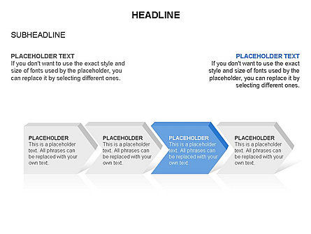 Timeline Process Arrows Toolbox, Slide 4, 03277, Process Diagrams — PoweredTemplate.com