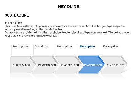 Timeline Process Arrows Toolbox, Slide 5, 03277, Process Diagrams — PoweredTemplate.com