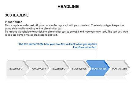 Timeline Process Arrows Toolbox, Slide 6, 03277, Process Diagrams — PoweredTemplate.com