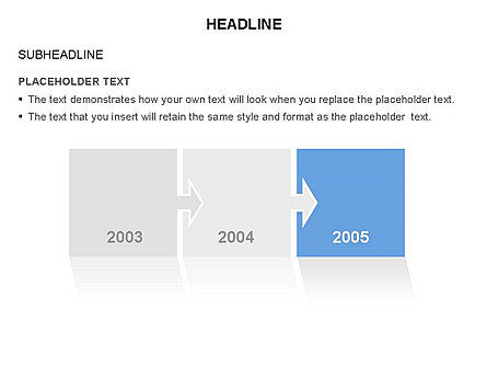 Timelines & Calendars: Timeline Arrow Puzzle Toolbox #03280