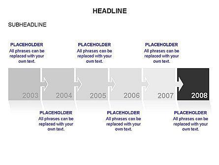 Timeline Arrow Puzzle Toolbox, Slide 10, 03280, Timelines & Calendars — PoweredTemplate.com