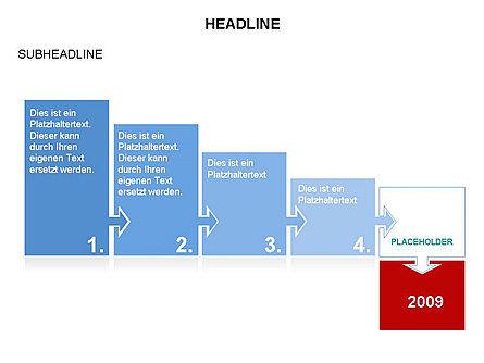Timeline Arrow Puzzle Toolbox, Slide 11, 03280, Timelines & Calendars — PoweredTemplate.com