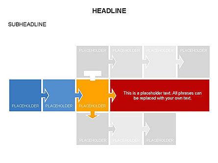 Timeline Arrow Puzzle Toolbox, Slide 13, 03280, Timelines & Calendars — PoweredTemplate.com
