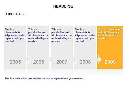 Timeline Arrow Puzzle Toolbox, Slide 14, 03280, Timelines & Calendars — PoweredTemplate.com