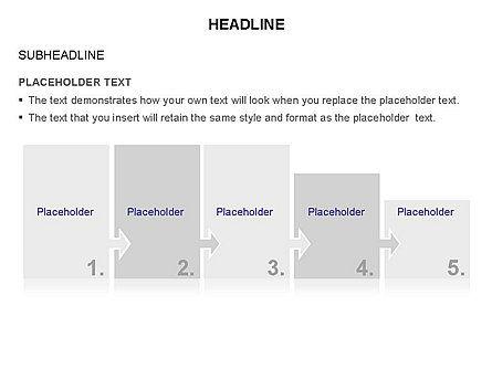Timeline Arrow Puzzle Toolbox, Slide 15, 03280, Timelines & Calendars — PoweredTemplate.com