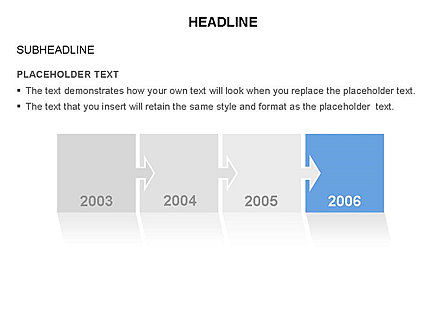 Timeline Arrow Puzzle Toolbox, Slide 2, 03280, Timelines & Calendars — PoweredTemplate.com