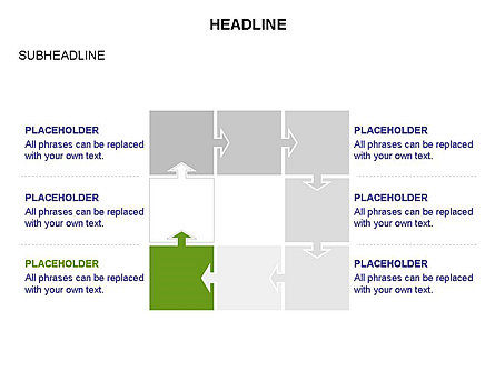 Timeline Arrow Puzzle Toolbox, Slide 24, 03280, Timelines & Calendars — PoweredTemplate.com