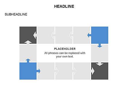 Timeline Arrow Puzzle Toolbox, Slide 28, 03280, Timelines & Calendars — PoweredTemplate.com