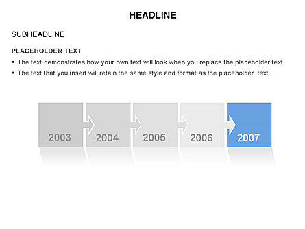 Timeline Arrow Puzzle Toolbox, Slide 3, 03280, Timelines & Calendars — PoweredTemplate.com
