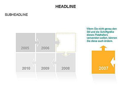 Timeline Arrow Puzzle Toolbox, Slide 30, 03280, Timelines & Calendars — PoweredTemplate.com