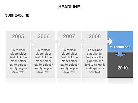 Timeline Arrow Puzzle Toolbox, Slide 31, 03280, Timelines & Calendars — PoweredTemplate.com