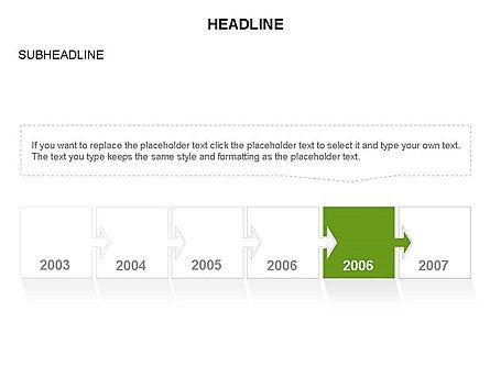 Timeline Arrow Puzzle Toolbox, Slide 33, 03280, Timelines & Calendars — PoweredTemplate.com