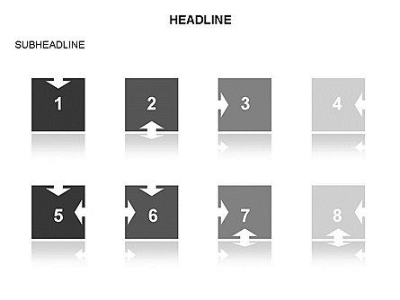Timeline Arrow Puzzle Toolbox, Slide 37, 03280, Timelines & Calendars — PoweredTemplate.com