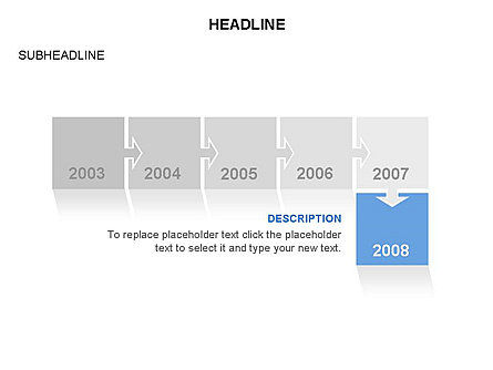 Timeline Arrow Puzzle Toolbox, Slide 4, 03280, Timelines & Calendars — PoweredTemplate.com