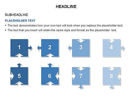 Timeline Arrow Puzzle Toolbox, Slide 40, 03280, Timelines & Calendars — PoweredTemplate.com