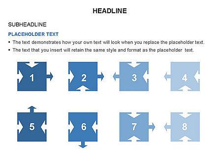 Timeline Arrow Puzzle Toolbox, Slide 41, 03280, Timelines & Calendars — PoweredTemplate.com