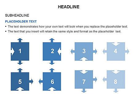 Timeline Arrow Puzzle Toolbox, Slide 42, 03280, Timelines & Calendars — PoweredTemplate.com