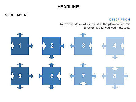 Timeline Arrow Puzzle Toolbox, Slide 43, 03280, Timelines & Calendars — PoweredTemplate.com