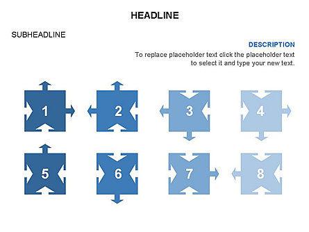 Timeline Arrow Puzzle Toolbox, Slide 44, 03280, Timelines & Calendars — PoweredTemplate.com