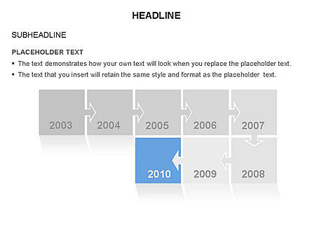 Timeline Arrow Puzzle Toolbox, Slide 6, 03280, Timelines & Calendars — PoweredTemplate.com