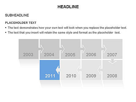 Timeline Arrow Puzzle Toolbox, Slide 7, 03280, Timelines & Calendars — PoweredTemplate.com