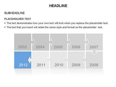 Timeline Arrow Puzzle Toolbox, Slide 8, 03280, Timelines & Calendars — PoweredTemplate.com