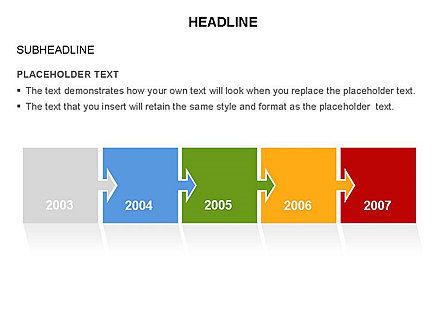 Timeline Arrow Puzzle Toolbox, Slide 9, 03280, Timelines & Calendars — PoweredTemplate.com