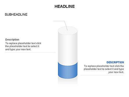 Cylinder Diagram Toolbox, Slide 12, 03282, Shapes — PoweredTemplate.com
