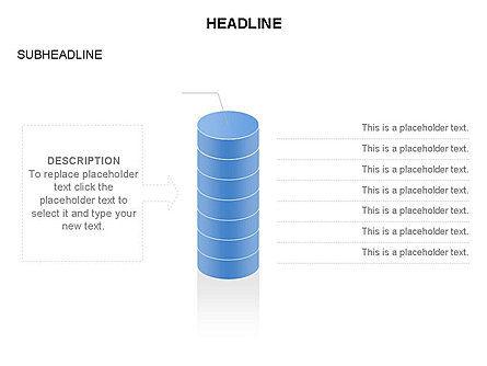 Cylinder Diagram Toolbox, Slide 21, 03282, Shapes — PoweredTemplate.com