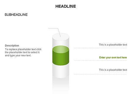 Cylinder Diagram Toolbox, Slide 23, 03282, Shapes — PoweredTemplate.com